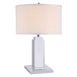 Urban Classic Regina Collection Table Lamp D:14In H:36In Lt:1 Chrome Finish