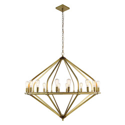 Urban Classic 1472 Illumina Collection Pendant Lamp D:52In. H:45In. Lt:16 Burnished Brass