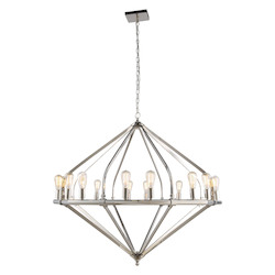 Urban Classic 1472 Illumina Collection Pendant Lamp D:52In. H:45In. Lt:16 Polished Nickel