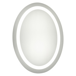 Elegant Decor Nova 28in. X 21in. LED Oval Mirror