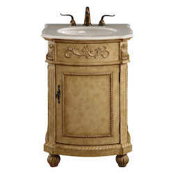 Elegant Decor Vanity Cabinet 1 Door 24In.X22In.X36In. Antique Beige