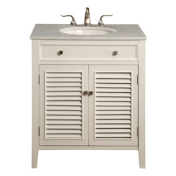 Elegant Decor Vanity Cabinet 2 Door 30In.X21In.X35In. White