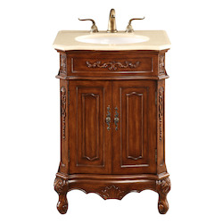 Elegant Decor Vanity Cabinet 2 Door 24In.X21In.X35In. Brown
