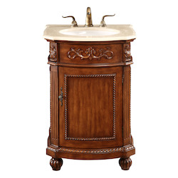 Elegant Decor Vanity Cabinet 1 Door 24In.X22In.X36In. Brown