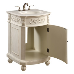 Elegant Decor Vanity Cabinet 1 Door 24In.X22In.X36In.  Antique White