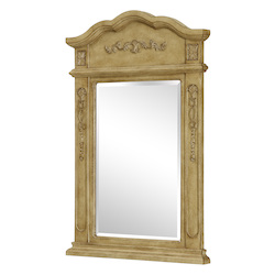 Elegant Decor Vanity Mirror 24In. X 36In. Antique Beige