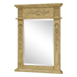 Elegant Decor Vanity Mirror 22In. X 28In. Antique Beige