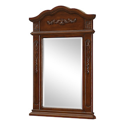Elegant Decor Brown Danville 36in. x 24in. Rectangular Beveled Wood Frame/Design Mirror