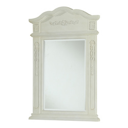 Elegant Decor Vanity Mirror 24In. X 36In. Antique White