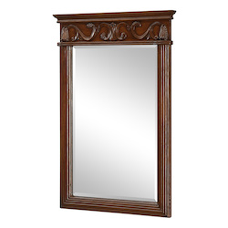 Elegant Decor Brown Danville 36in. x 25in. Rectangular Beveled Wood Frame/Design Mirror