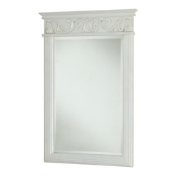 Vanity Mirror 25In. X 36In. Antique White