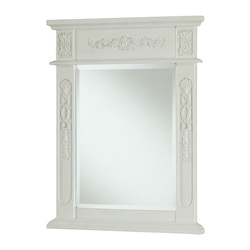 Elegant Decor Vanity Mirror 22In. X 28In. Antique White