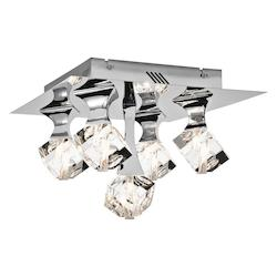 Elan Chrome Rockne LED Flushmount