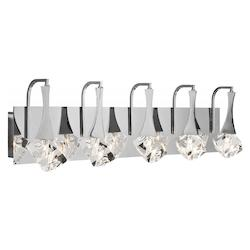Elan Chrome Rockne Large LED Vanity Light