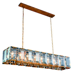 Urban Classic Monaco Collection Pendant Lamp L:62In. W:13In. H:12In. Lt:18 Golden Iron F