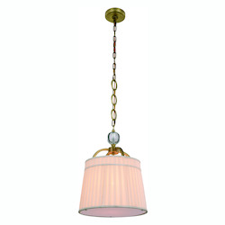Urban Classic Cara Collection Pendant Lamp D:15In. H:20In. Lt:1 Burnished Brass Finish