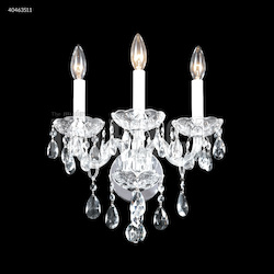 James R Moder Palace Ice 3 Arm Wall Sconce