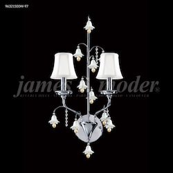 James R Moder Murano Collection 2 Arm Wall Sconce