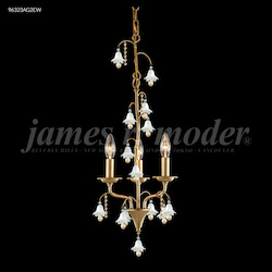 James R Moder Murano Collection 3 Arm Pendant