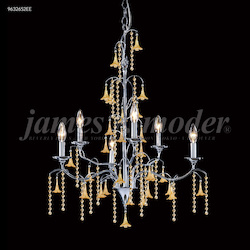 James R Moder Murano Collection 6 Arm Chandelier
