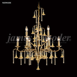 James R Moder Murano Collection 9 Arm Chandelier