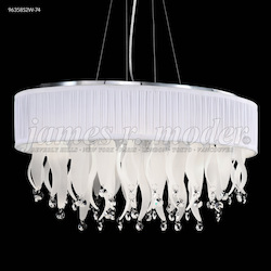 James R Moder Oval Chandelier With Shade