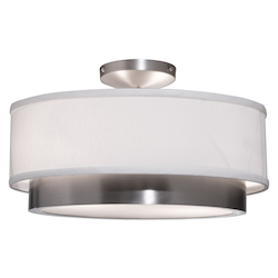 Artcraft Scandia 2 Light  Brushed Nickel Semi Flush