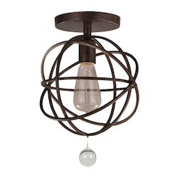 Crystorama Crystorama Solaris 1 Light Bronze Ceiling Mount