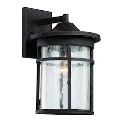 Trans Globe 1Lt Wall Lantern-Lg-Seeded Gla