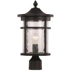 Trans Globe 1Lt Post Lantern-Md-Seeded Gla