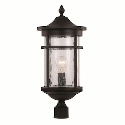 Trans Globe 1Lt Post Lantern-Lg-Seeded Gla