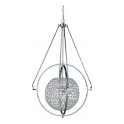 Trans Globe 6Lt Pendant-Drop Ball-Lg-Pc