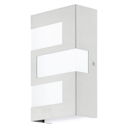 Eglo Stainless Steel 5 1/2in. Wide 3 Light LED Wall Sconce from the Ralora Collection