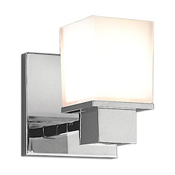 Hudson Valley Polished Chrome Milford 1 Light Bathroom Wall Sconce