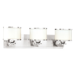 Hudson Valley Polished Nickel Basking Ridge 3 Light Bathroom Vanity Fixture