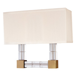 Hudson Valley Aged Brass Alpine 2 Light Wall Sconce