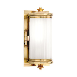 Hudson Valley Aged Brass One Light Wall Sconce From The Bristol Collection