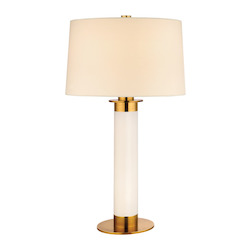 Hudson Valley Aged Brass Thayer 1 Light Table Lamp