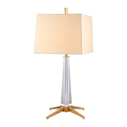 Hudson Valley Aged Brass Hindeman 1 Light Table Lamp