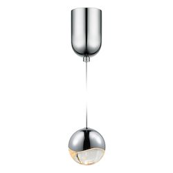 Sonneman Medium Led Pendant W/Mini-Dome
