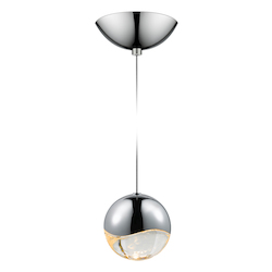 Sonneman Large Led Pendant W/Dome Canop