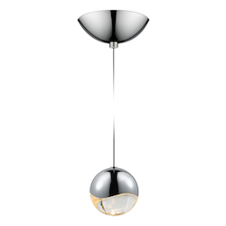 Sonneman Medium Led Pendant W/Dome Cano