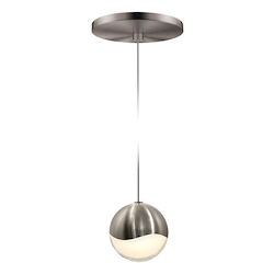 Sonneman Medium Led Pendant W/Round Can