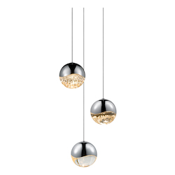 Sonneman 3-Light Round Large Led Pendan