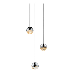 Sonneman 3-Light Round Small Led Pendan
