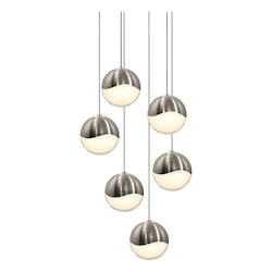 Sonneman 6-Light Round Large Led Pendan