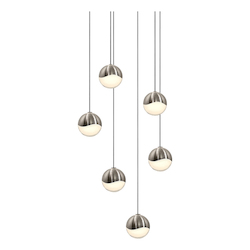 Sonneman 6-Light Round Small Led Pendan