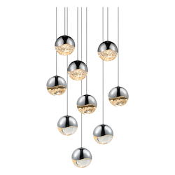 Sonneman 9-Light Round Medium Led Penda