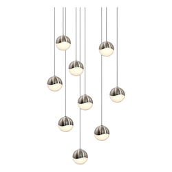 Sonneman 9-Light Round Small Led Pendan