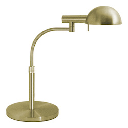 Sonneman One Light Brass Desk Lamp